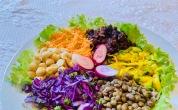 Plat végétarien varié et coloré, le Buddha bowl ou bol du Bouddha